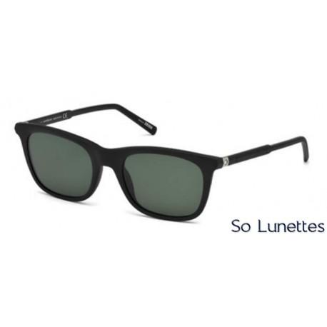 f8c72bac3f34d2 Lunette de soleil Montblanc MB607S 02R noir opaque - vert polarisant