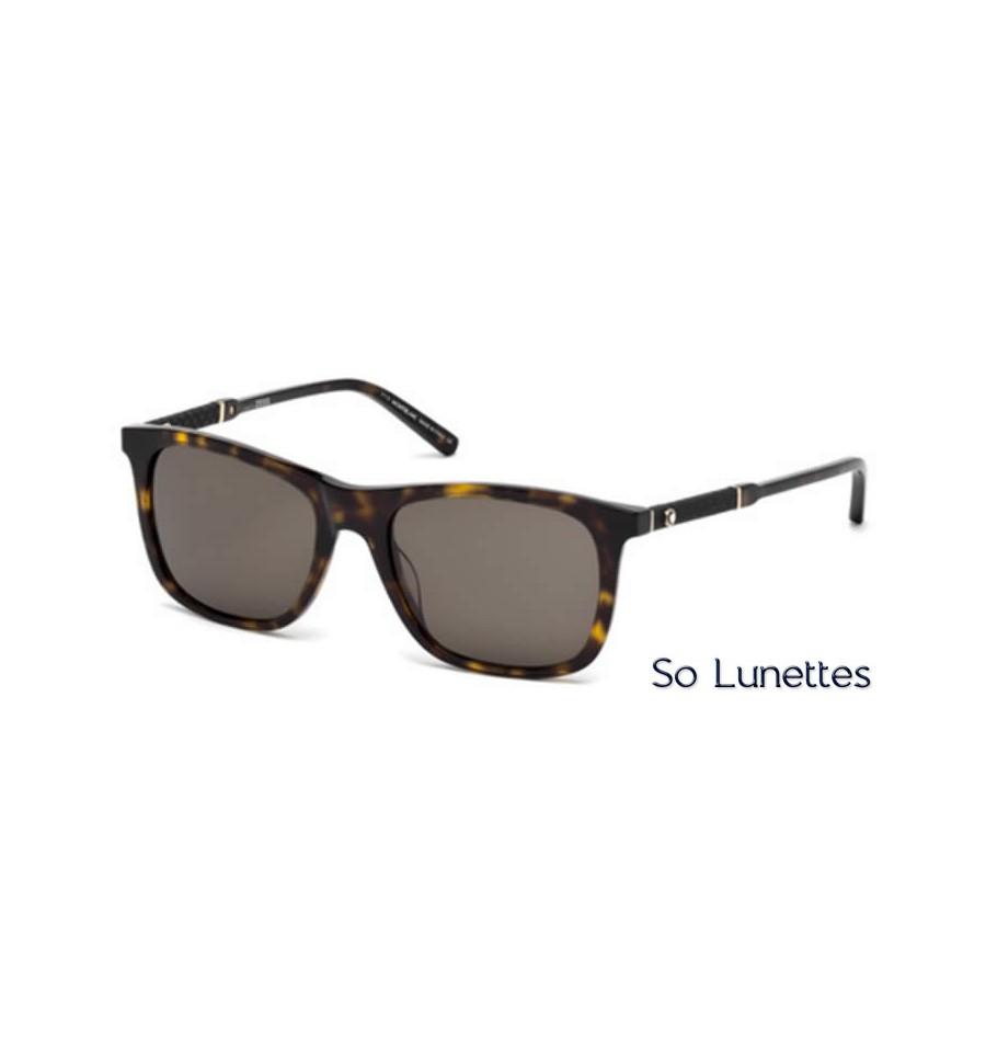 montblanc mb606s 52e tortoise fonc 233 marron so lunettes