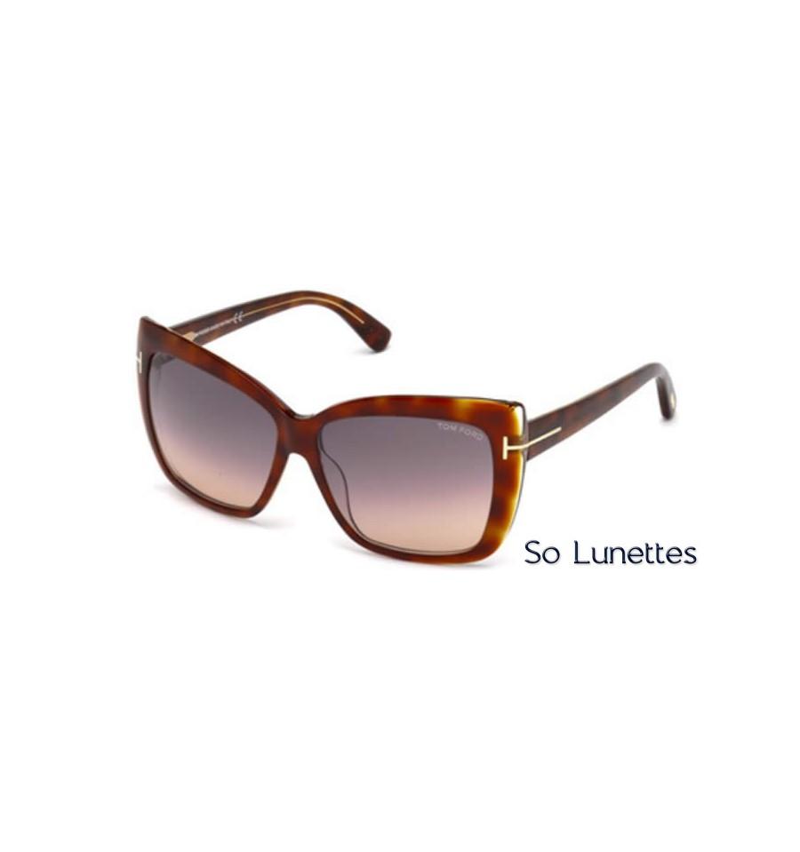 Lunettes de soleil Tom Ford FT0390 53F tortoise blonde - marron fumé 6f93f9a76118