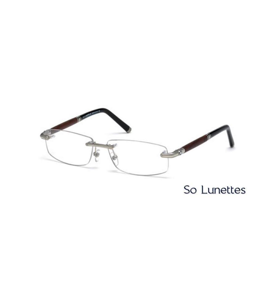 2892c85528 Lunette de vue Montblanc MB0491 016 palladium brillant