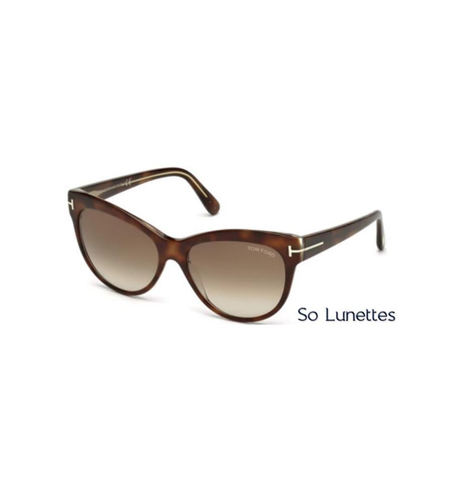 lunettes de soleil Tom Ford FT0430 56F tortoise - marron fumé 45e8e239009b