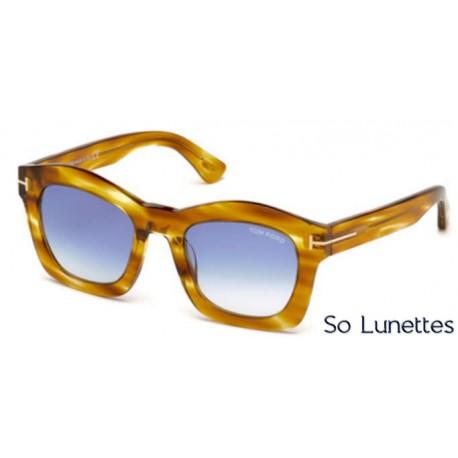 Lunettes de soleil Tom Ford FT0431 41W jaune - bleu fumé