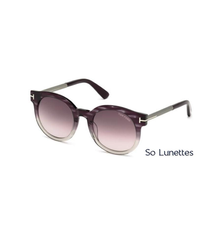 31b32efc7b9a72 Lunettes de soleil Tom Ford FT0435 83T violet - bordeaux fumé