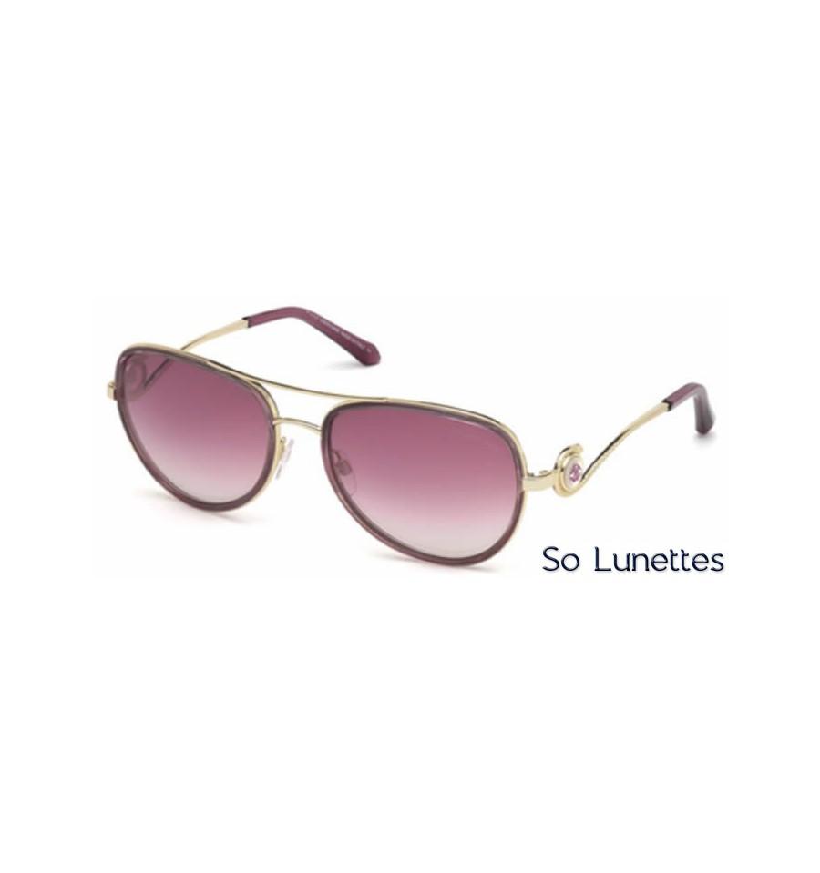 66d1b89865daac Lunette de soleil Roberto Cavalli RC1013 81Z Violet bril. - violet fumé  et-ou