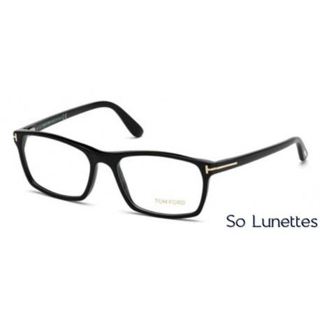 81ddfe1907d3d6 Lunette de vue Tom Ford FT5295 001 noir brillant