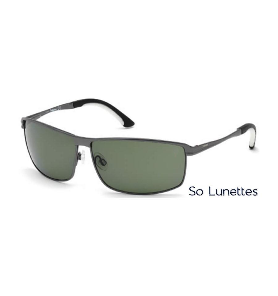 540deaae513719 Lunettes de soleil Timberland TB9043 09R anthracite opaque - vert polarisant