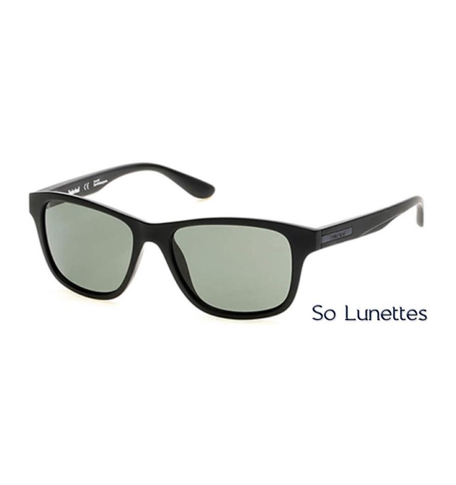 8ca48accdadd5f Lunettes de soleil Timberland TB9089 02R noir opaque - vert polarisant