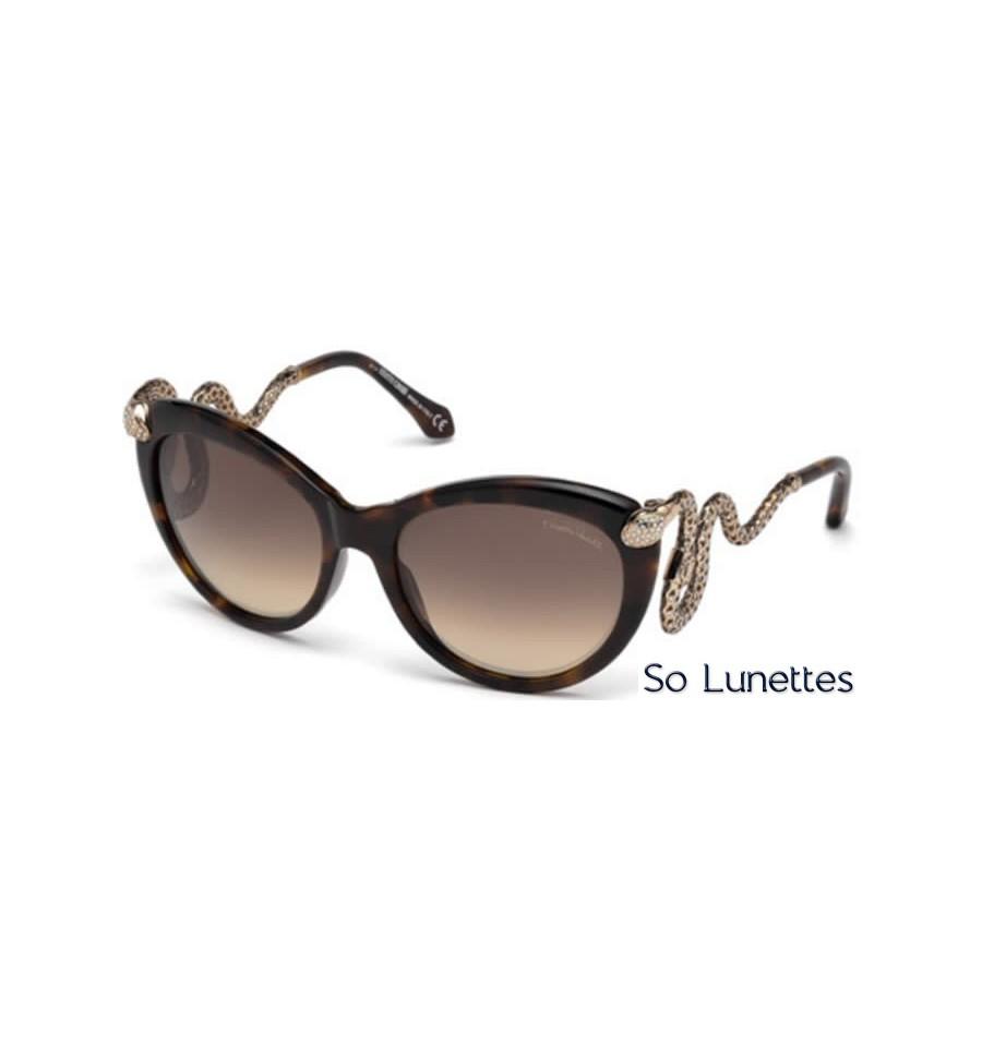 65c001752d7 Lunettes de soleil Roberto Cavalli RC889S 50F marron foncé - marron fumé