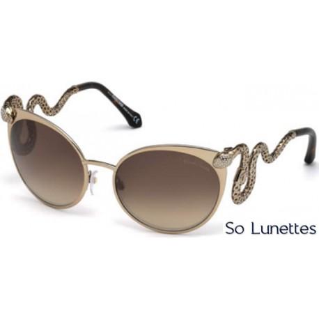 11509fe6fb5 Lunettes de soleil Roberto Cavalli RC890S 34F bronze clair brillant - marron  fumé
