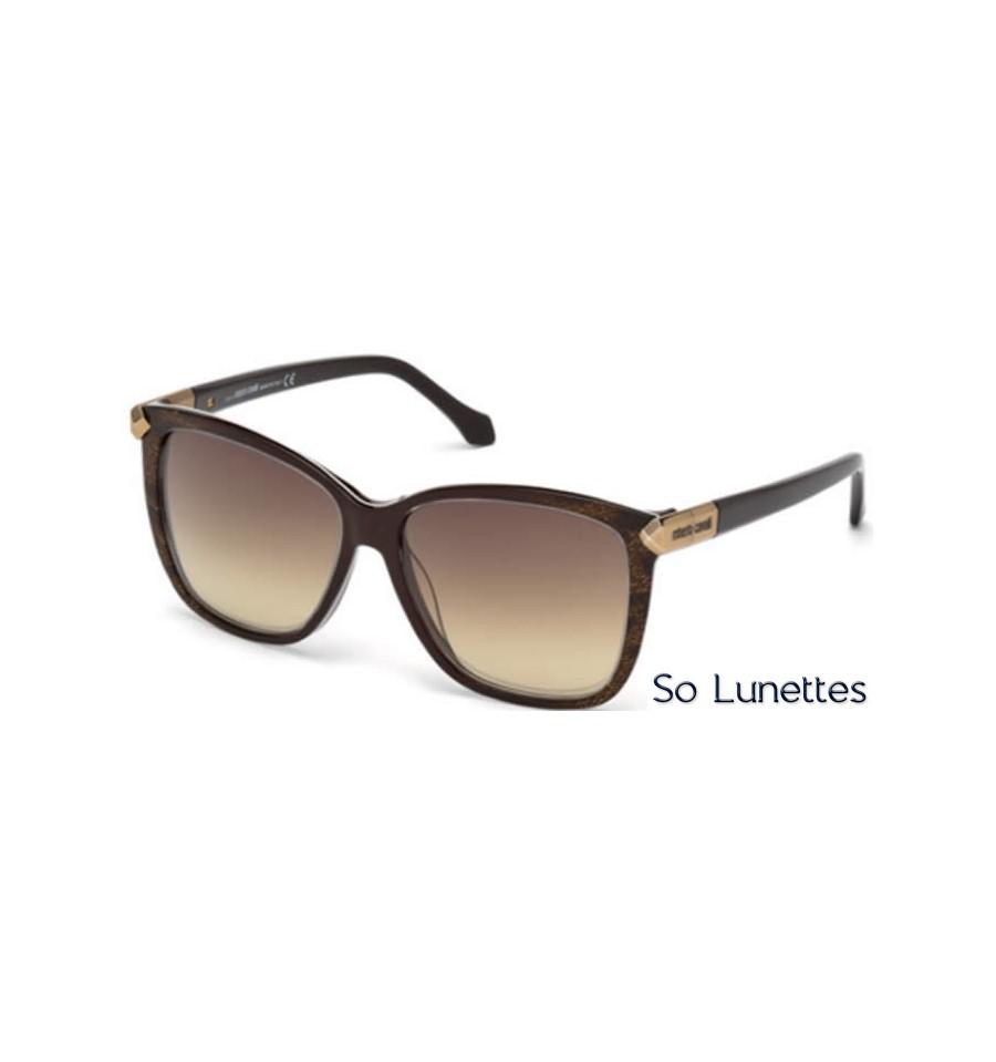 88e080f822b Lunettes de soleil Roberto Cavalli RC902S 50G marron foncé - marron miroité