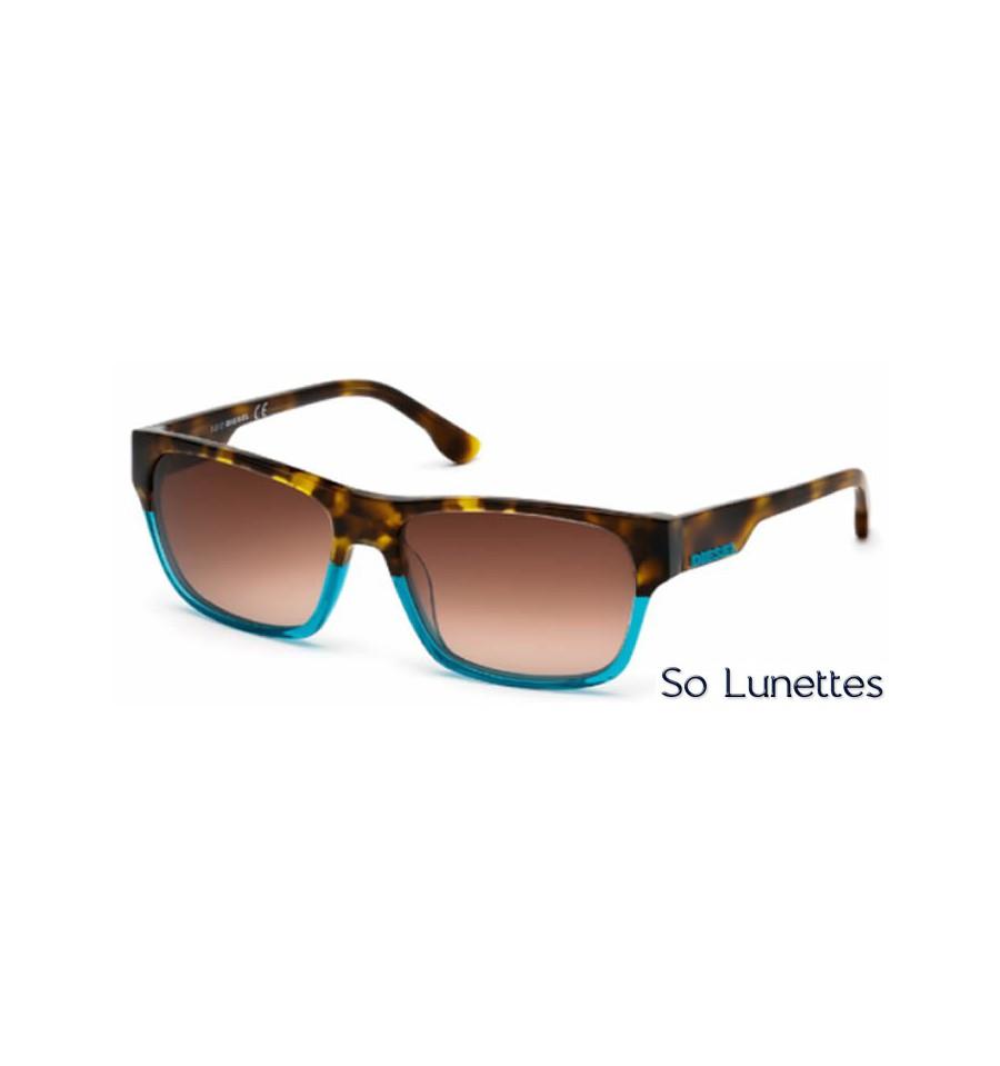 Lunette de soleil Diesel DL0012 89F Turquoise - marron fumé 2c09b779c438