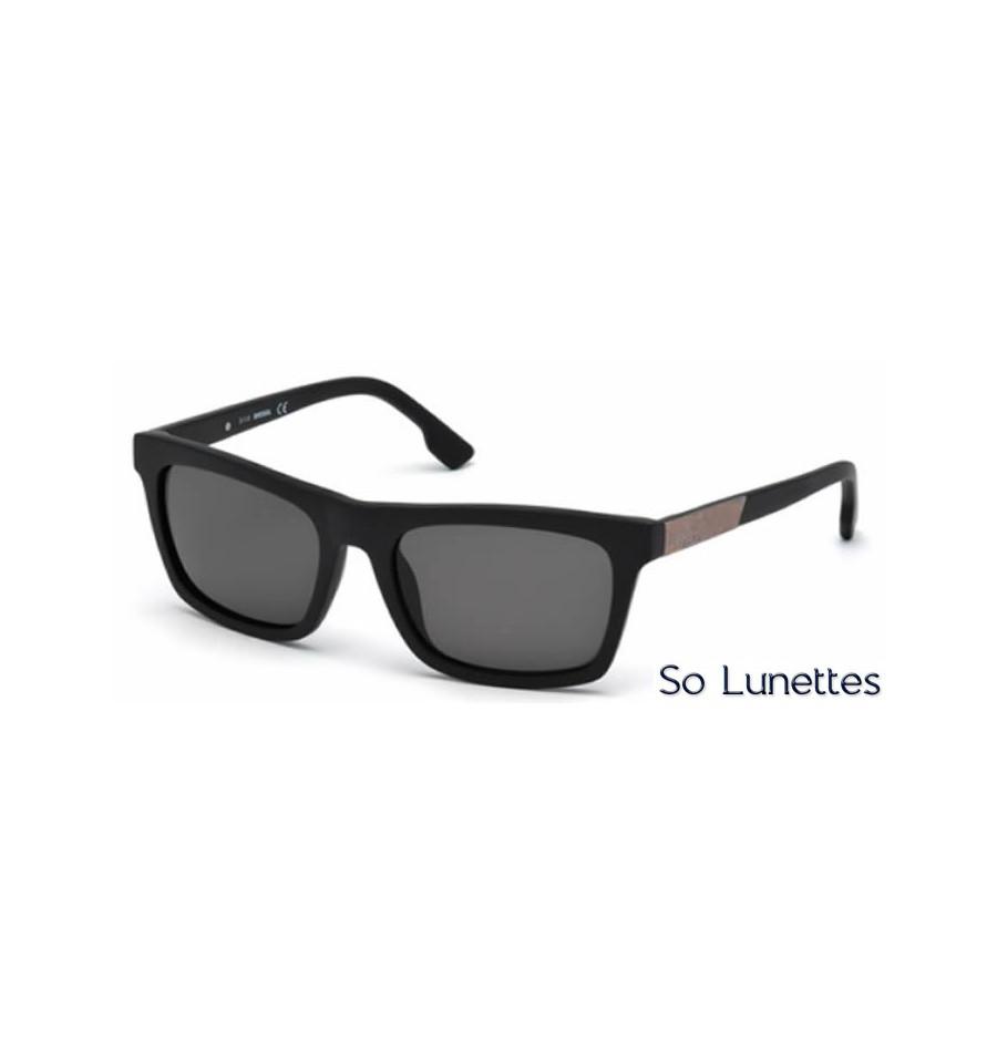 diesel dl0120 02n noir opaque vert so lunettes. Black Bedroom Furniture Sets. Home Design Ideas