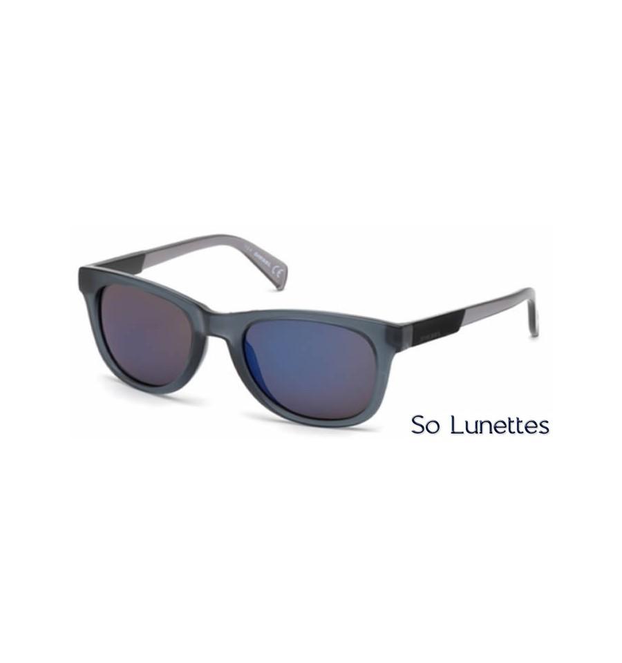 Lunette de soleil Diesel DL0135 20X Gris - bleu miroité 61ddbad01afc