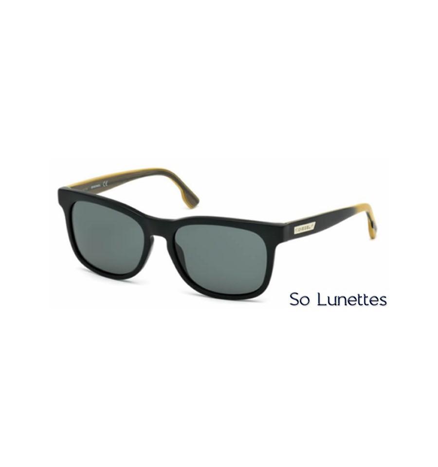 diesel dl0151 02n noir opaque vert so lunettes. Black Bedroom Furniture Sets. Home Design Ideas