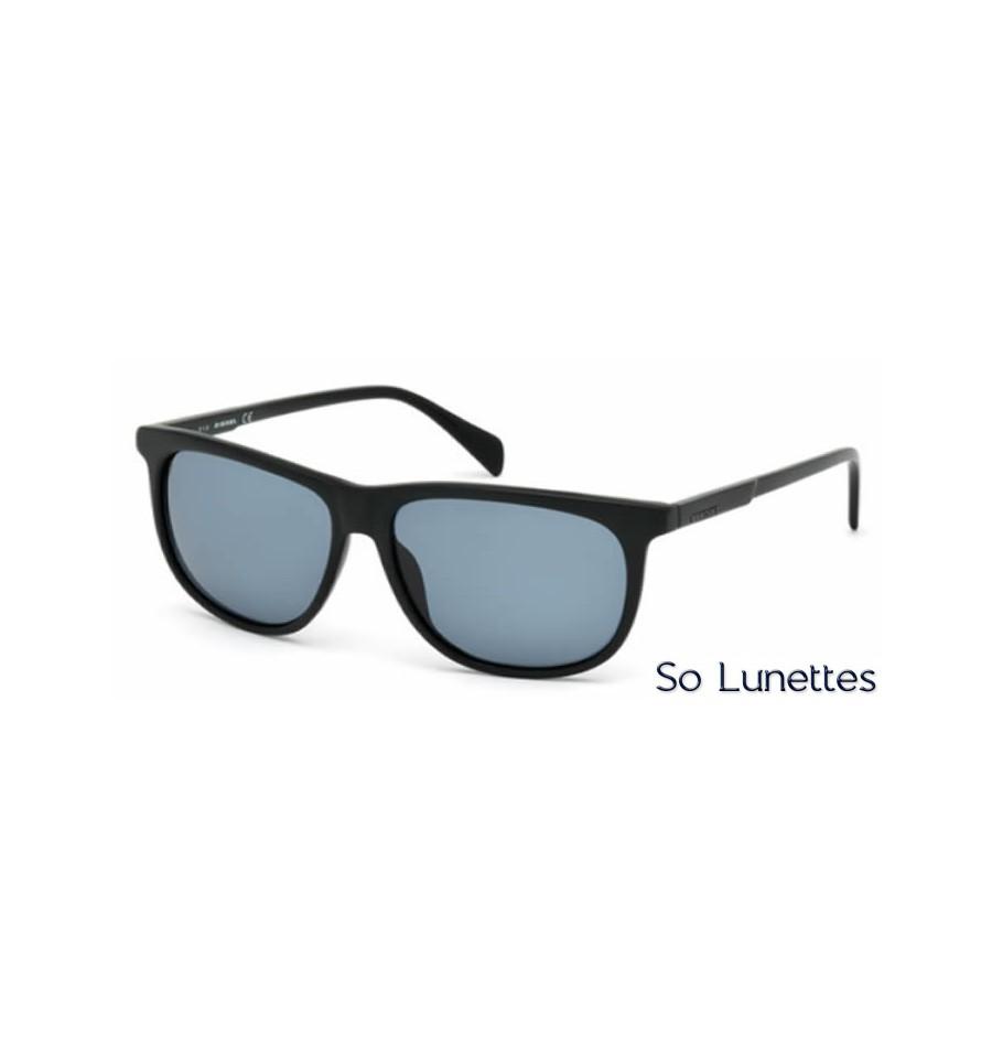 diesel dl0155 02v noir opaque bleu so lunettes. Black Bedroom Furniture Sets. Home Design Ideas
