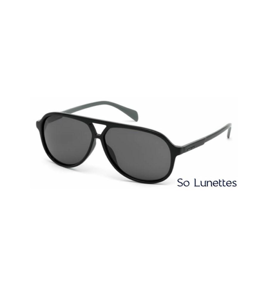 Lunette de soleil Diesel DL0156 01Q Noir brillant - vert miroité 009051840d8c