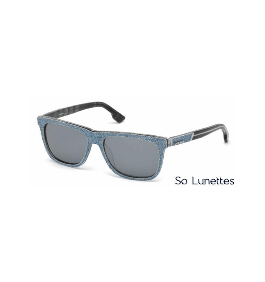 659a0ff42f536 Lunette de soleil Diesel DL0169 86C Azur - gris miroité