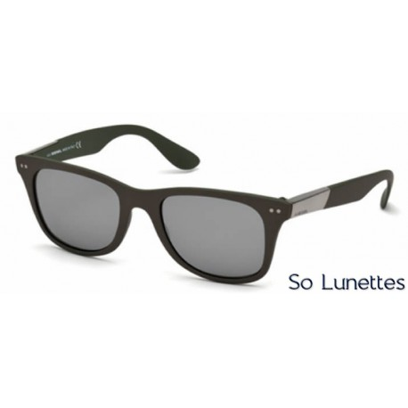 diesel dl0173 50c marron fonc gris miroit so lunettes. Black Bedroom Furniture Sets. Home Design Ideas