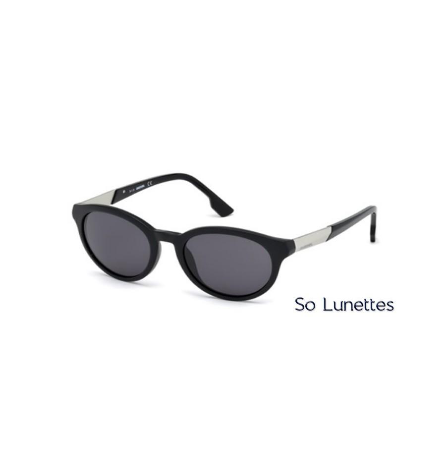 diesel dl0186 02a noir opaque gris so lunettes. Black Bedroom Furniture Sets. Home Design Ideas