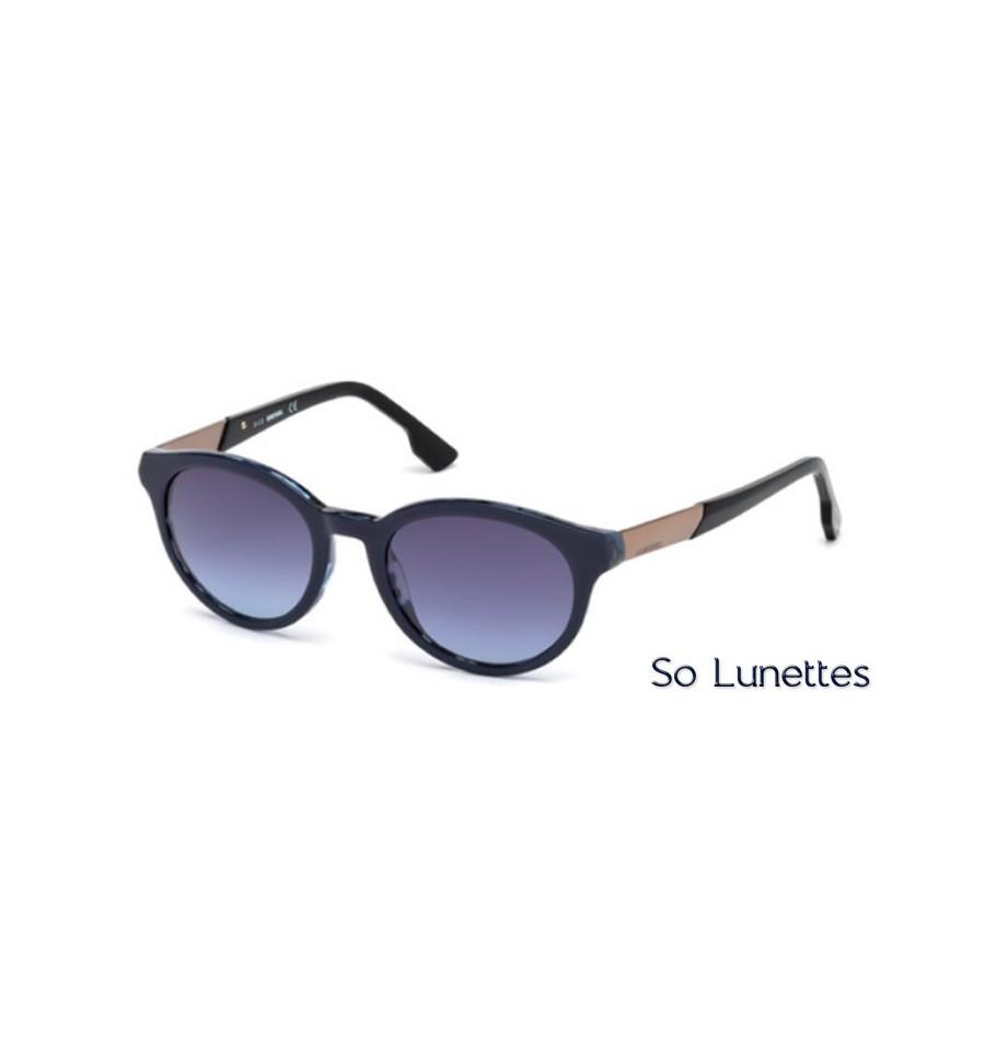Lunette de soleil Diesel DL0186 92Z Bleu - violet fumé et-ou miroité 43133c97244e