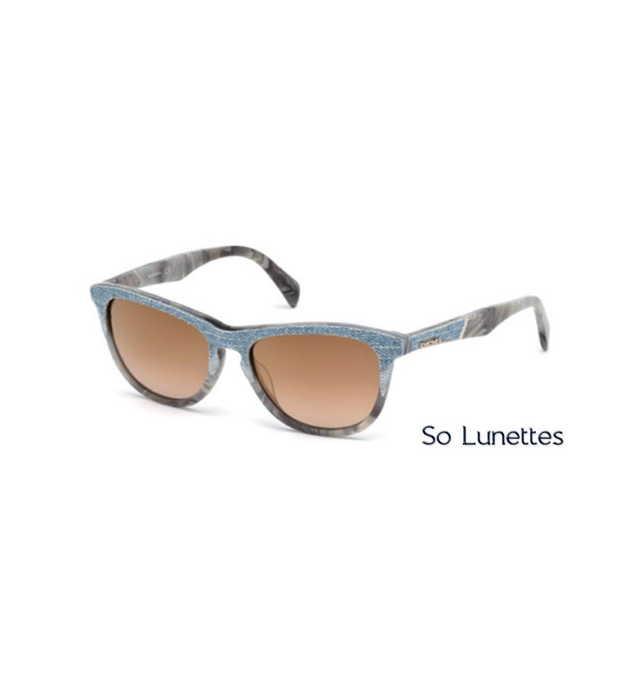 diesel dl0192 86l azur roviex miroit so lunettes. Black Bedroom Furniture Sets. Home Design Ideas