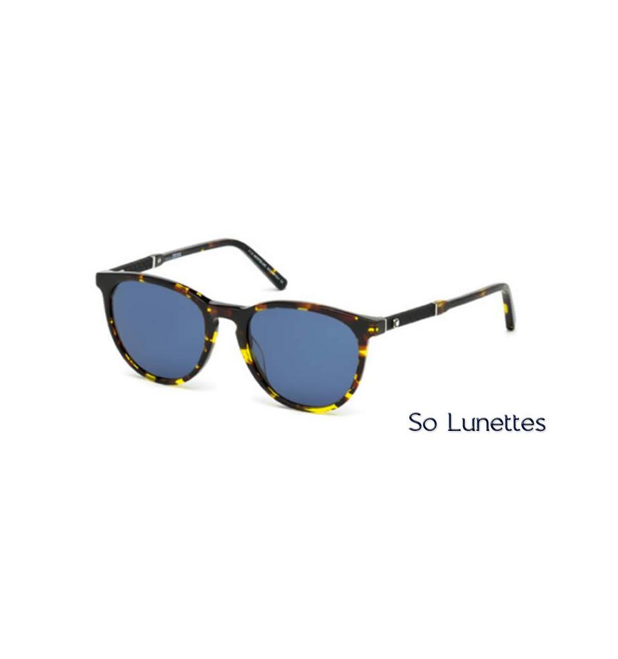 montblanc mb588s 55v tortoise color 233 bleu so lunettes