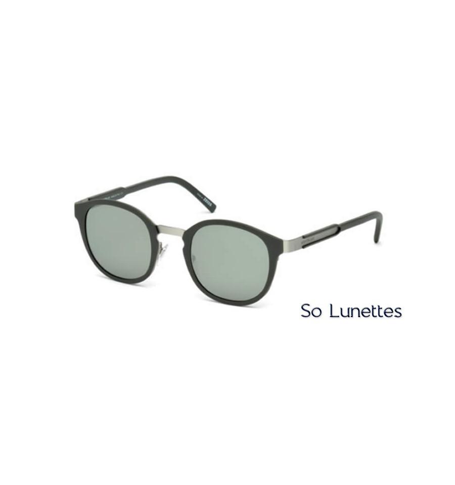 Lunette de soleil Montblanc MB590S 97Q vert foncé opaque - vert miroité f701efc1ddf5