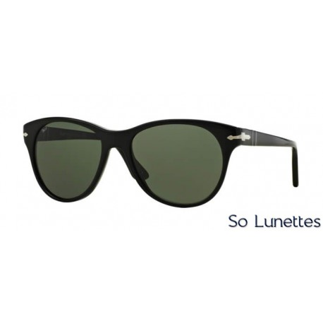 lunette de soleil persol femme 0po3134s 95 31 monture noir verres vert. Black Bedroom Furniture Sets. Home Design Ideas
