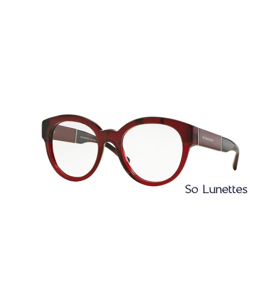 2d972fc27108d Lunette de vue Burberry Femme 0BE2209 3591 monture rouge