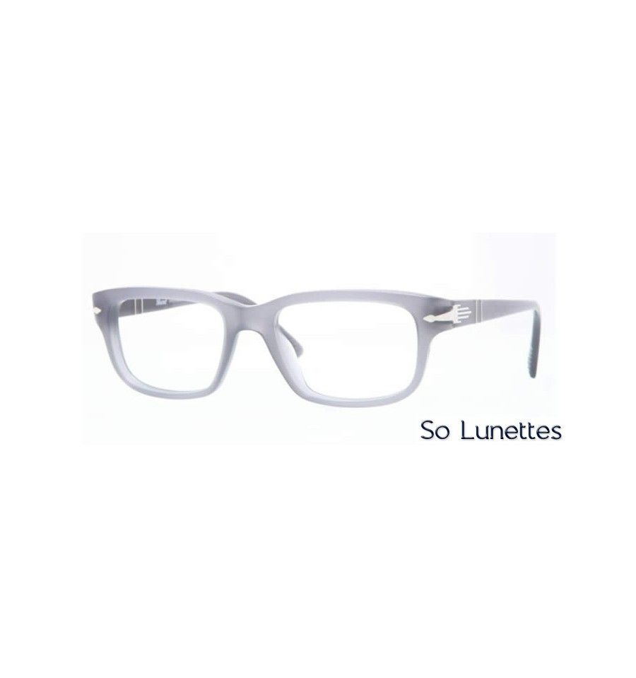lunette de vue persol homme 0po3073v 1003 monture gris. Black Bedroom Furniture Sets. Home Design Ideas