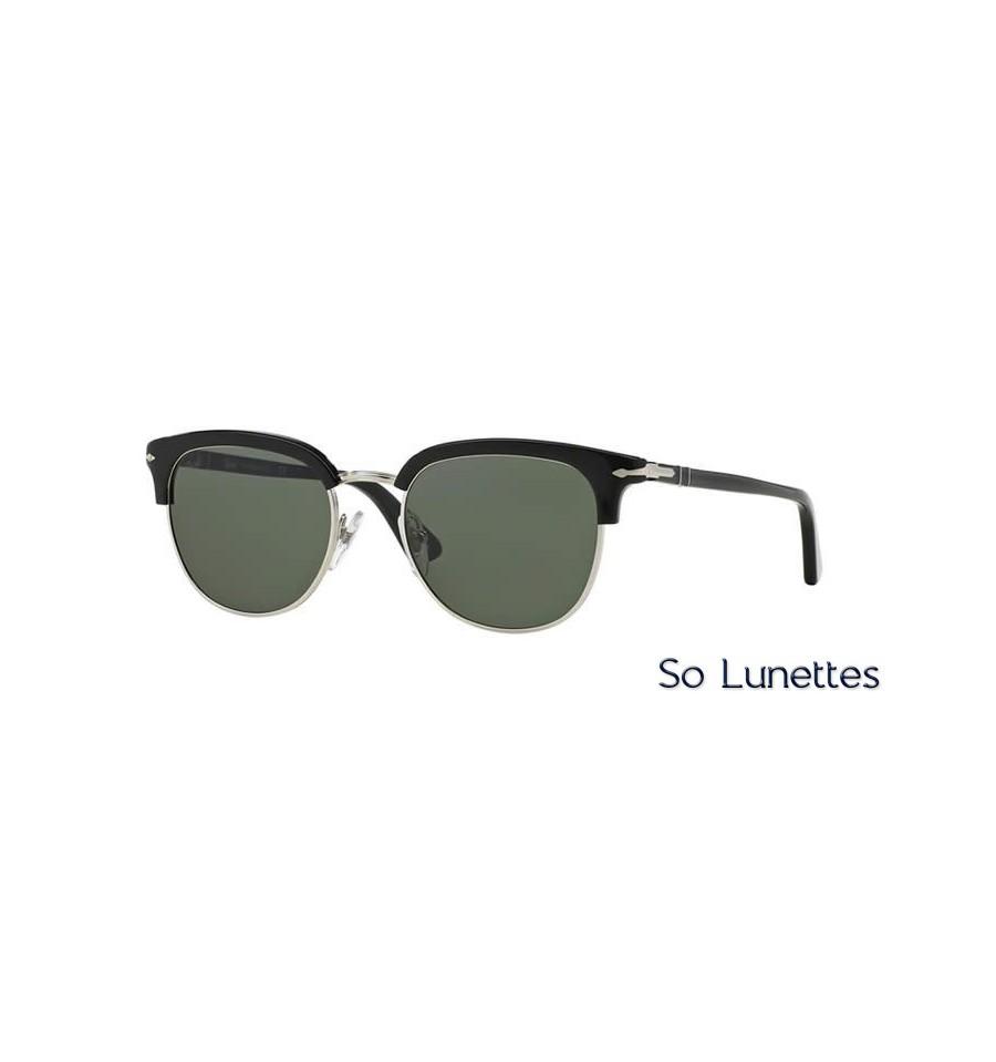 lunette de soleil persol homme 0po3105s 95 31 monture noir verres vert. Black Bedroom Furniture Sets. Home Design Ideas