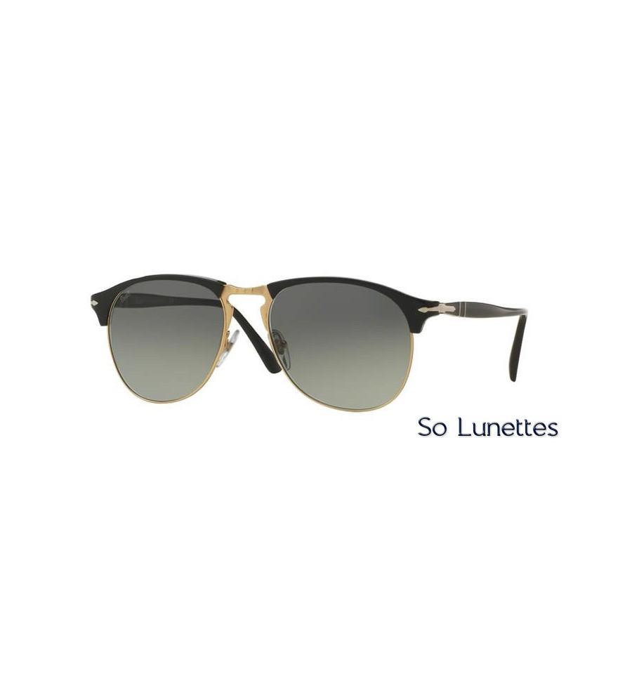 lunette de soleil persol homme 0po8649s 95 71 monture noir verres gris. Black Bedroom Furniture Sets. Home Design Ideas