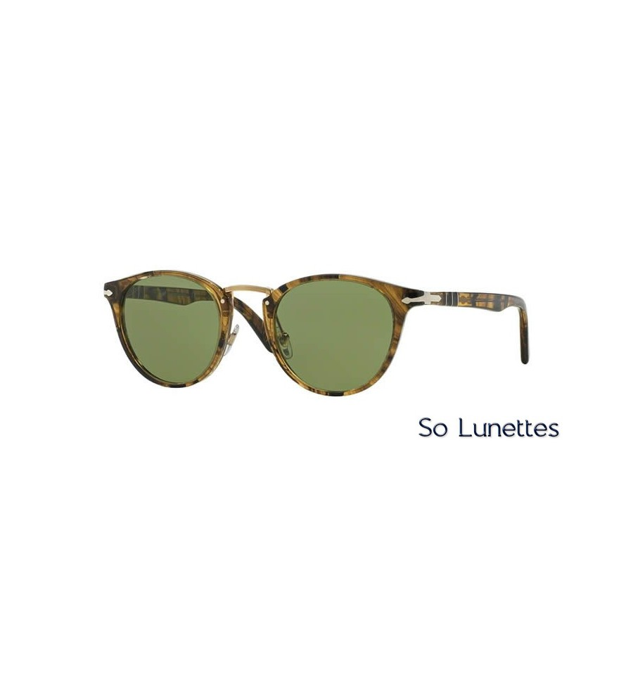 lunette de soleil persol homme 0po3108s 10214e monture vert verres vert. Black Bedroom Furniture Sets. Home Design Ideas
