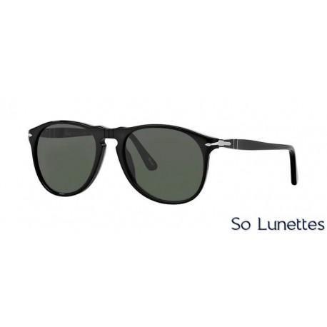lunette de soleil persol homme 0po9649s 95 31 monture noir verres vert cristallin. Black Bedroom Furniture Sets. Home Design Ideas