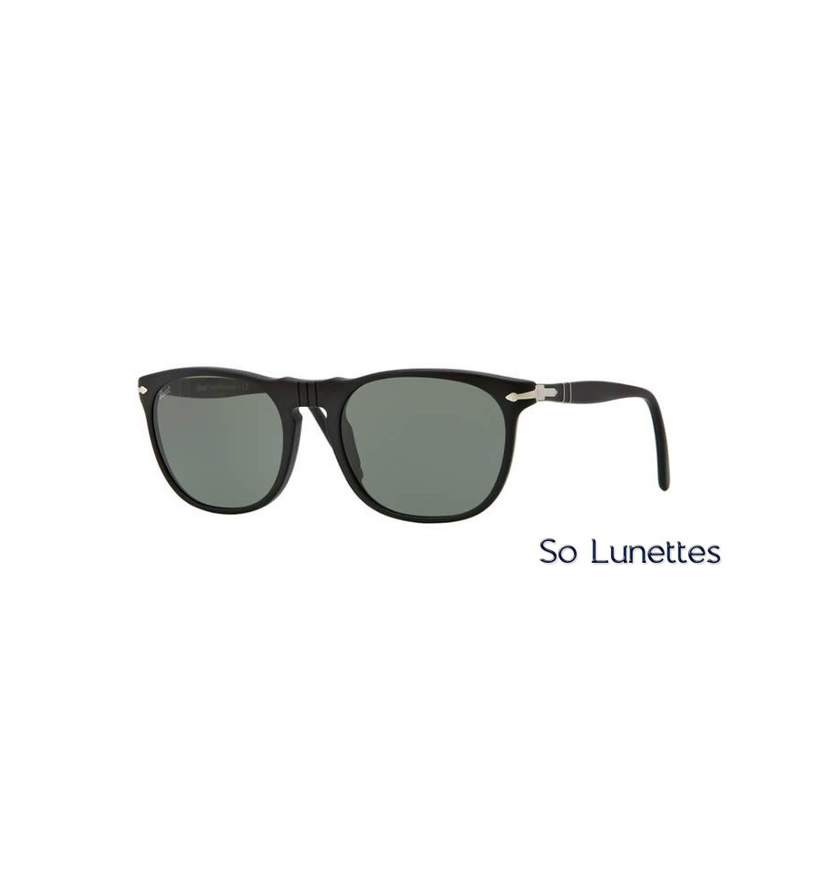 lunette de soleil persol homme 0po2994s 900 31 monture noir verres vert cristallin. Black Bedroom Furniture Sets. Home Design Ideas