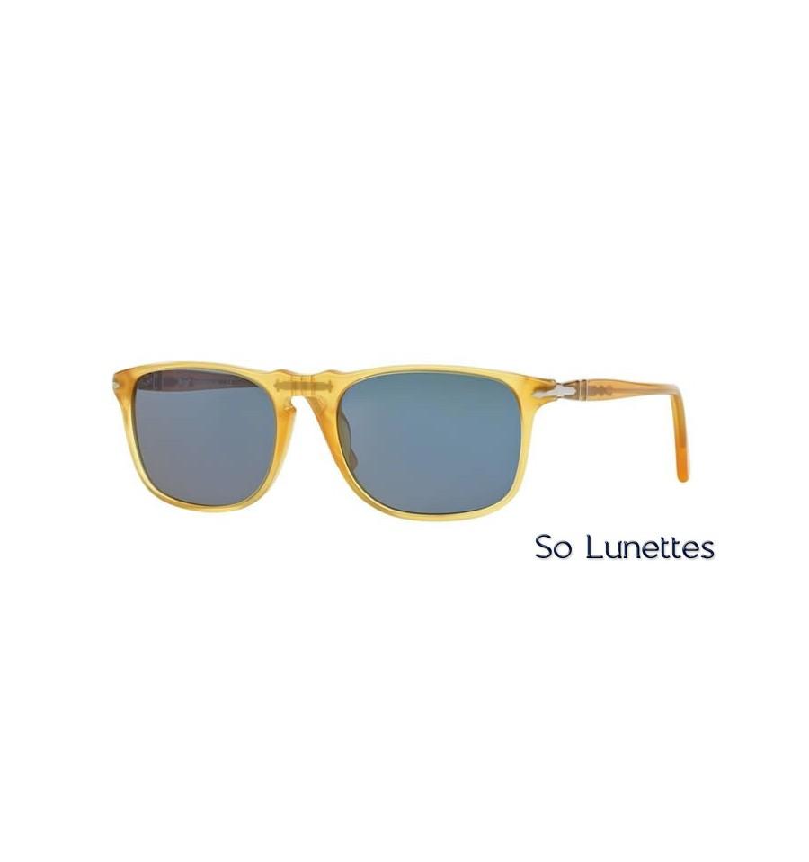 c7c5c2d7ac2e6 Lunette de soleil Persol Homme 0PO3059S 204 56 monture jaune verres bleu