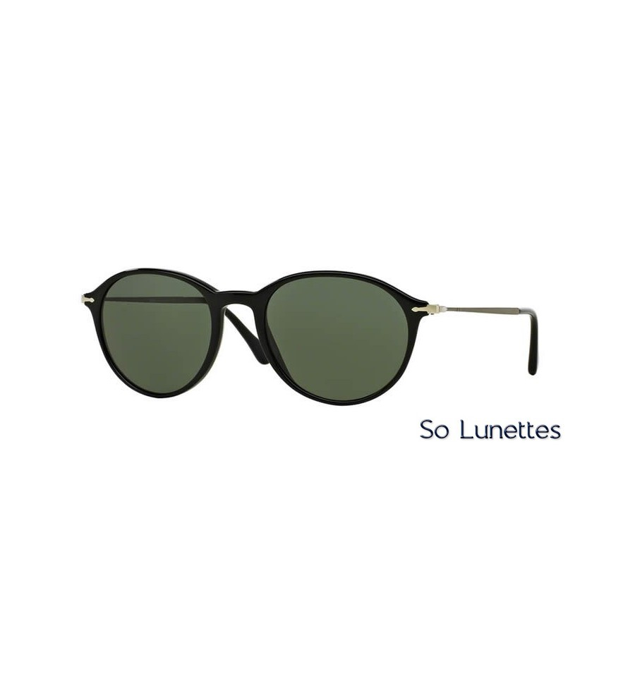 lunette de soleil persol homme 0po3125s 95 31 monture noir verres vert. Black Bedroom Furniture Sets. Home Design Ideas