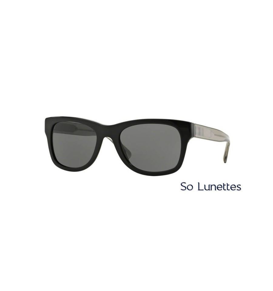 lunette de soleil burberry homme 0be4211 300187 monture noir verres gris. Black Bedroom Furniture Sets. Home Design Ideas
