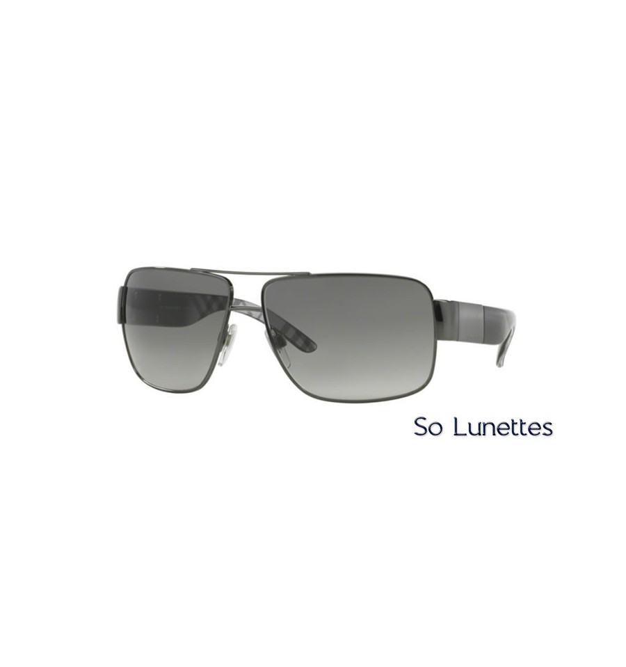 lunette de soleil burberry homme 0be3040 105711 monture noir verres gris. Black Bedroom Furniture Sets. Home Design Ideas