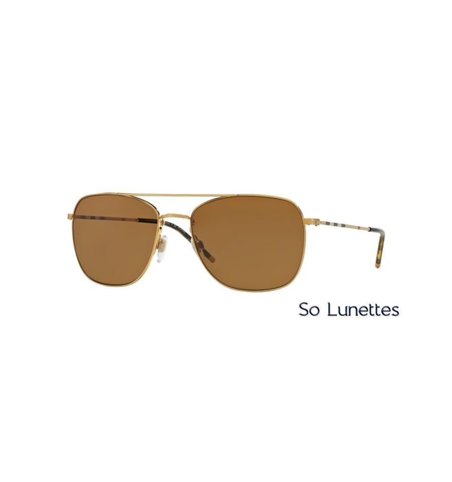 a162bbc68b17f8 Lunette de soleil Burberry Homme 0BE3079 105283 monture Or verres ...