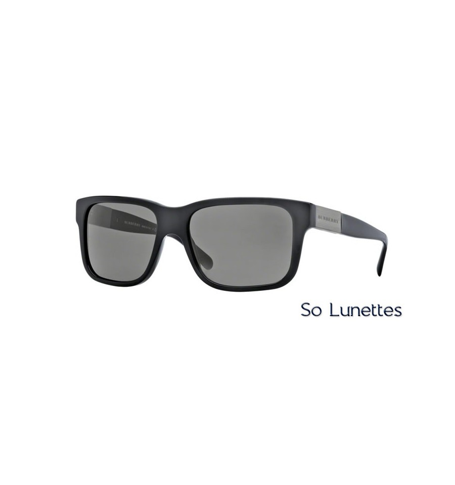 lunette de soleil burberry homme 0be4170 300187 monture noir verres gris. Black Bedroom Furniture Sets. Home Design Ideas