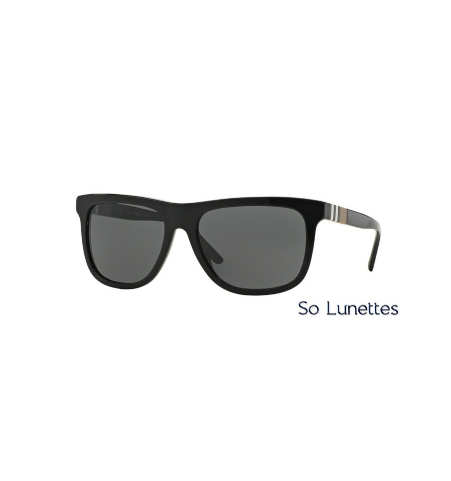 lunette de soleil burberry homme 0be4201 300187 monture noir verres gris. Black Bedroom Furniture Sets. Home Design Ideas