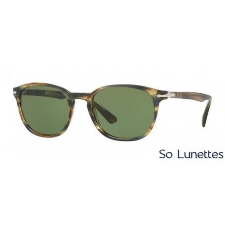 lunette de soleil persol homme 0po3148s 90424e monture marron verres vert. Black Bedroom Furniture Sets. Home Design Ideas