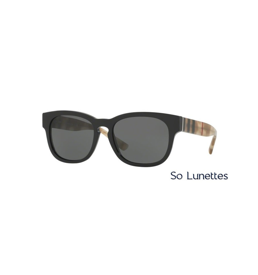 lunette de soleil burberry homme 0be4226 360087 monture noir verres gris. Black Bedroom Furniture Sets. Home Design Ideas