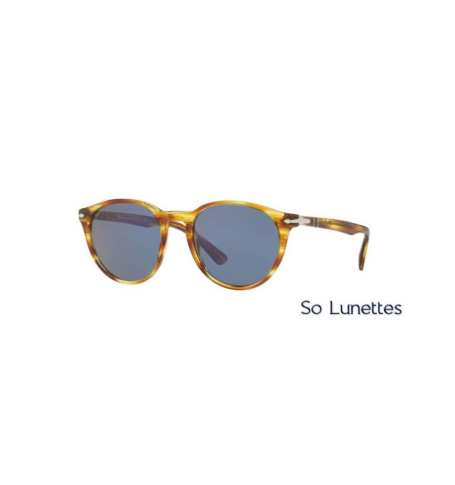 lunette de soleil persol homme 0po3152s 904356 monture marron verres bleu. Black Bedroom Furniture Sets. Home Design Ideas