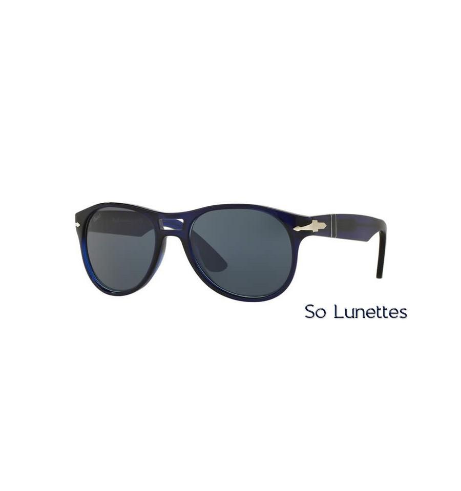 lunette de soleil persol homme 0po3155s 1047r5 monture bleu verres azur. Black Bedroom Furniture Sets. Home Design Ideas