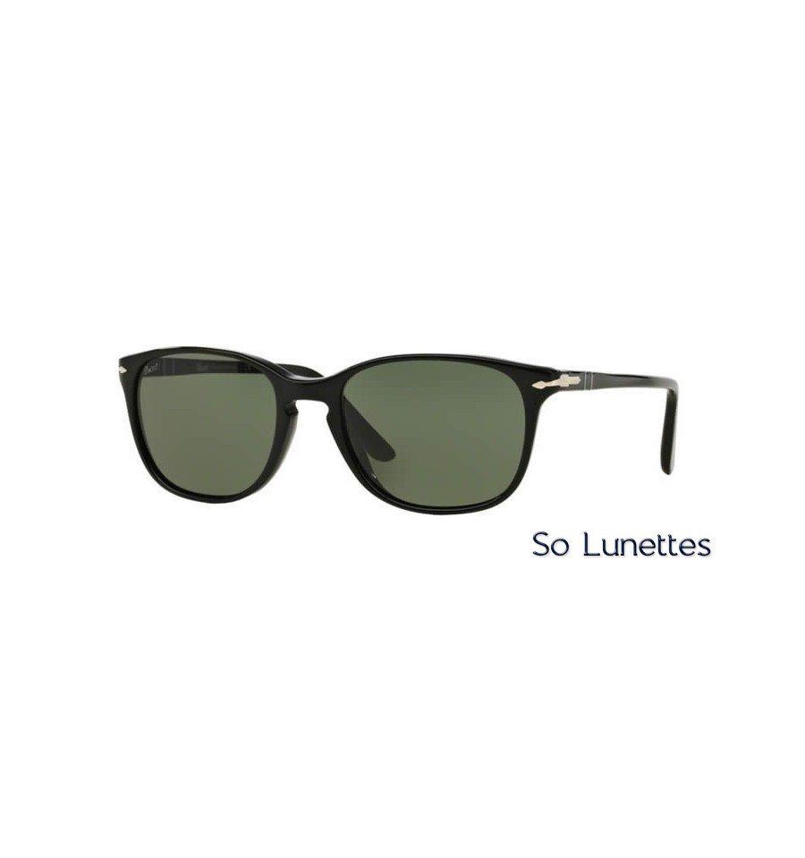 lunette de soleil persol unisexe 0po3133s 901431 monture noir verres vert. Black Bedroom Furniture Sets. Home Design Ideas