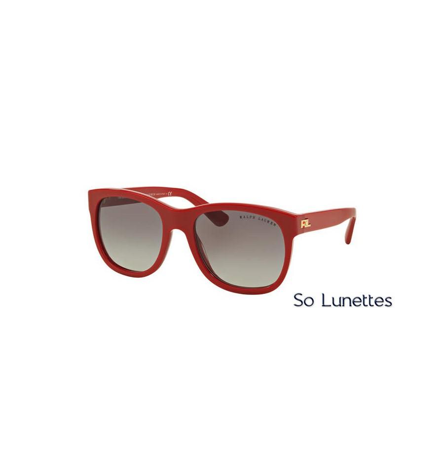 lunette de soleil ralph lauren femme 0rl8141 53103c monture rouge verres gris d grad. Black Bedroom Furniture Sets. Home Design Ideas