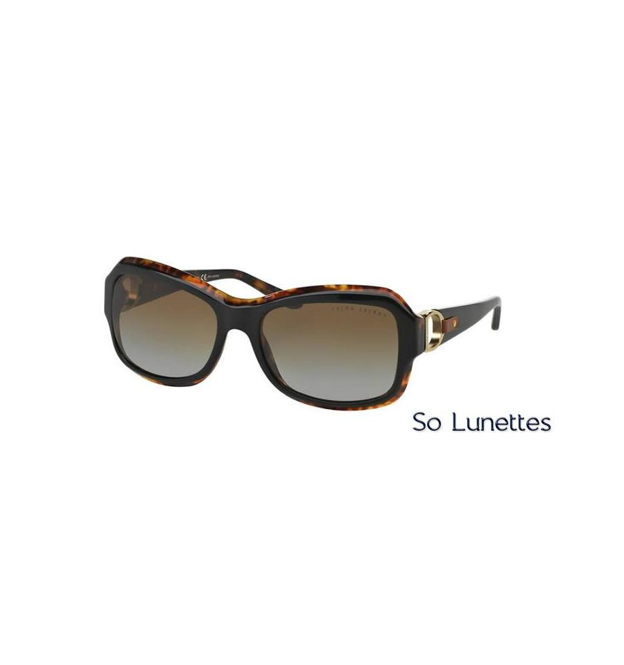 lunette de soleil ralph lauren femme 0rl8107q 5260t5 monture noir verres gris d grad polaris. Black Bedroom Furniture Sets. Home Design Ideas