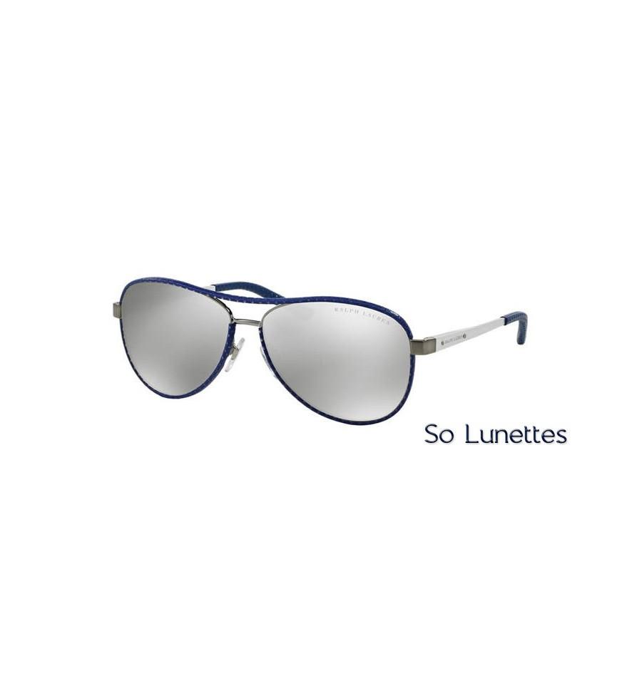 Lunette de soleil ralph lauren femme 0rl7050q 92996g for Lunette soleil verre bleu miroir